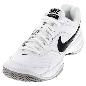 NIKE MENS COURT LITE TNS SHOES WH/MD GY