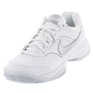 NIKE WOMENS COURT LITE TNS SHOES WH/MD GY