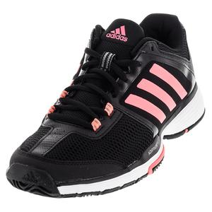 adidas WOMENS BARR CLUB TNS SHOES BLK/FLSH RD
