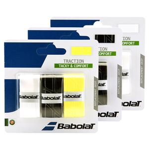 BABOLAT TRACTION TENNIS OVERGRIP 3 PACK