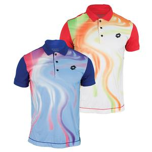 LOTTO MENS BLEND GRAPHIC TENNIS POLO