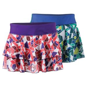 SOLFIRE WOMENS RHOMBATIC PEAK 11 IN TNS SKORT