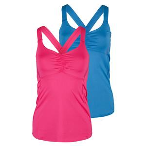 LUCKY IN LOVE WOMENS ROUCHED TENNIS CAMI