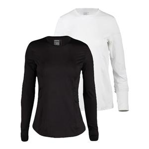 LUCKY IN LOVE WOMENS LONG SLEEVE SPF TENNIS CREW