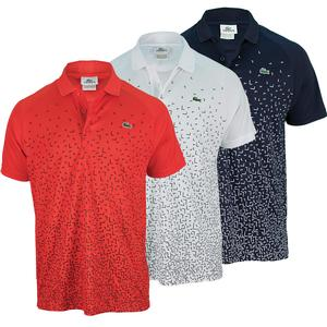 LACOSTE MENS ULTRA DRY PRINTED POLO