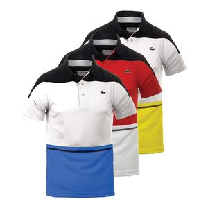LACOSTE MENS T2 COLOR BLOCK ULTRADRY TNS POLO