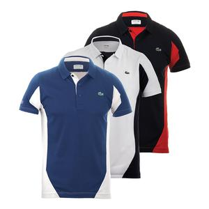 LACOSTE MENS T1 ULTRADRY COLORBLOCK TENNIS POLO