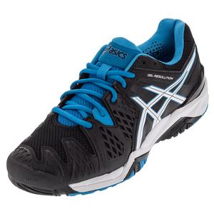 ASICS MENS GEL-RESOLUTION 6 TNS SHOES BK/BL JW