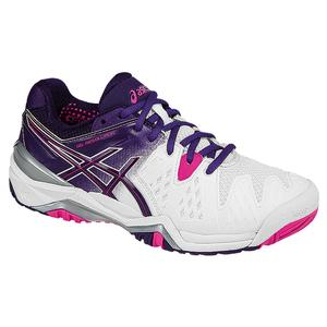 ASICS WOMENS GEL-RESOLUTION 6 TNS SHOES WH/PUR