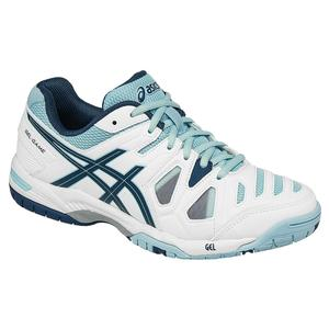 ASICS WOMENS GEL-GAME 5 TNS SHOES WH/BL STL