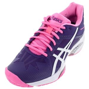 ASICS WOMENS GEL-SOL SPD 3 TNS SHOES PURP/WH