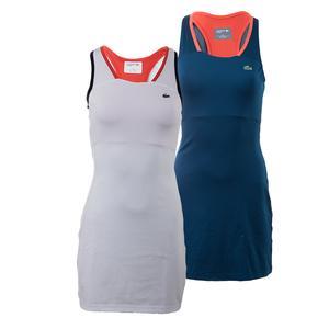 LACOSTE WOMENS SLVLS MSH LYR RCRBK TNS DRESS