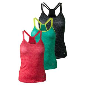 SOLFIRE WOMENS RHOMBUS DOUBLE UP TENNIS TANK