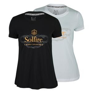 SOLFIRE WOMENS BUBBLY MIXED DOUBLES TENNIS TEE