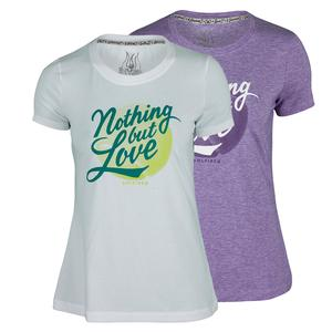 SOLFIRE WOMENS NOTHING BUT LOVE TENNIS TEE