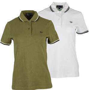 FRED PERRY WOMENS TWIN TIPPED TENNIS POLO