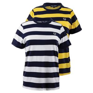 FRED PERRY WOMENS STRIPED RINGER TENNIS TEE