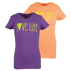 LOVEALL GIRLS LOVE LIFE TENNIS TEE