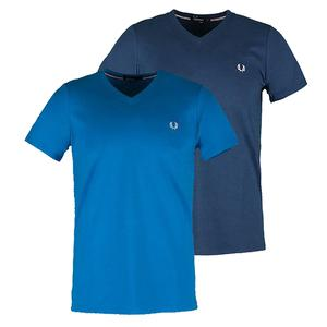 FRED PERRY MENS CLASSIC V NECK TENNIS TEE