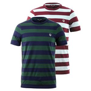 FRED PERRY MENS STRIPED RINGER TENNIS TEE