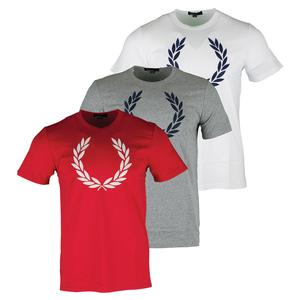 FRED PERRY MENS TEXTURED LAUREL WREATH TNS TEE