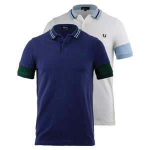 FRED PERRY MENS PANELLED SLEEVE PIQUE TENNIS POLO
