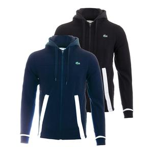 LACOSTE MENS T2 FLEECE COLORBLOCK ZIP TNS HOODY