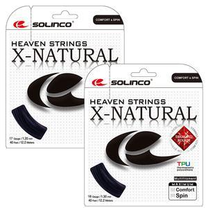SOLINCO X-NATURAL TENNIS STRING BLACK