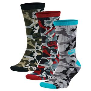 NIKE MENS CAMO CREW SOCKS