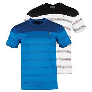 LACOSTE MENS SHORT SLEEVE MESH EFFECT TNS TEE