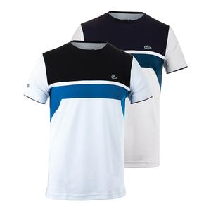 LACOSTE MENS T1 ULTRADRY CHEST STRIPE TNS TEE