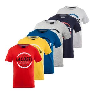 LACOSTE MENS SPORT SS TECH JERSEY GRAPHIC TEE