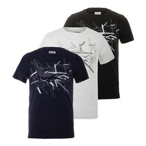 LACOSTE MENS SPORT TECH JERSEY ABSTRACT CROC TEE