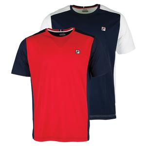 FILA MENS HERITAGE COLOR BLOCKED TENNIS CREW