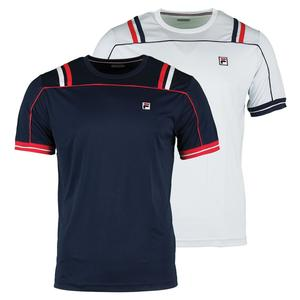 FILA MENS STRIPED HERITAGE TENNIS CREW