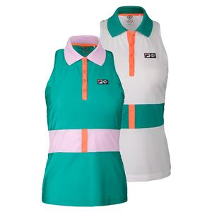 FILA WOMENS MB COURT CENTRAL TENNIS POLO