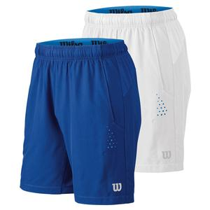 WILSON MENS PERF STRETCH WOVEN 8 INCH TNS SHORT