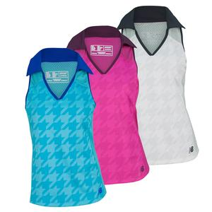 NEW BALANCE WOMENS TOURNAMENT SLEEVELESS TENNIS POLO