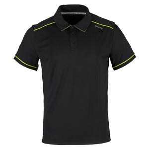 SOLFIRE MENS PERFORMANCE TENNIS POLO ANTHRACITE