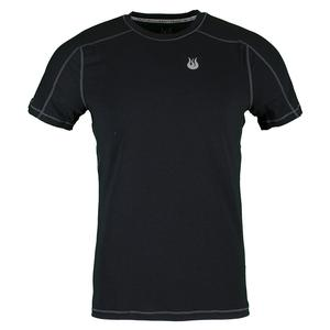 SOLFIRE MENS TECH TENNIS TEE ANTHRACITE