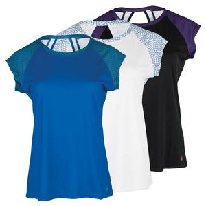 SOLFIRE WOMENS CONCENTRIC CIRCLES FAST TNS TEE
