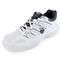 K-SWISS MENS CALABASAS TENNIS SHOES WH/CHARCOAL OUTTER SIDE