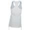 SOFIBELLA WOMENS ATHLETIC TENNIS TANK TOP WHITE