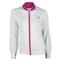 kswiss WOMENS WARM UP TENNIS JACKET WH/BERRY