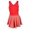 NIKE WOMENS HEATHERED V NECK TENNIS DRESS FRONT SIDE