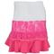 LUCKY IN LOVE WOMENS TALL-LACE TIER TENNIS SKIRT SH PK