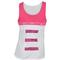 LUCKY IN LOVE WOMENS HIGH NECK TENNIS TANK WH/SHK PK