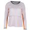 LUCKY IN LOVE WOMENS LONG SLV LAYER TNS CROP TOP LAV