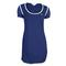 LACOSTE WOMENS MESH SS TENNIS DRESS METHYL BLUE