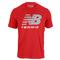 NEW BALANCE MENS BIG BRAND TENNIS TEE PLUM KITTEN